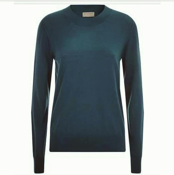 8fb6cf786 Burberry Sweaters - Burberry Merino Wool Dark Teal Crewneck Sweater